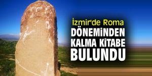 İzmir'de Roma döneminden kalma kitabe bulundu