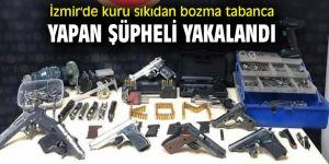 İzmir'de kuru sıkıdan bozma tabanca yapan şüpheli yakalandı