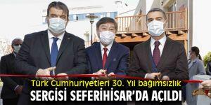 Seferihisar'da Türk Cumhuriyetleri 30. Yıl bağımsızlık sergisi