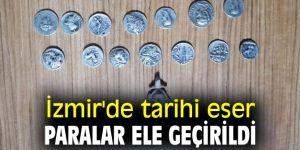 İzmir'de tarihi eser paralar ele geçirildi