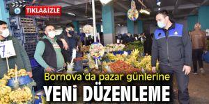 Bornova'da pazar günlerine korona ayarı