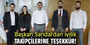 Başkan Sandal'dan iyilik takipçilerine teşekkür!
