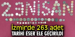 İzmir'de 263 adet tarihi eser ele geçirildi
