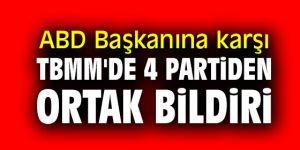 TBMM'de 4 partiden ortak bildiri