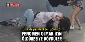 İzmir'de ünlü olmak için darp ettikleri çocukların videosunu çektiler