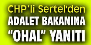 """CHP'li Sertel'den Adalet Bakanına """"OHAL"""" yanıtı"""