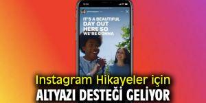 Instagram Hikayeler için altyazı desteği geliyor