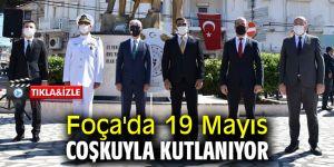 Foça'da 19 Mayıs coşkuyla kutlanıyor