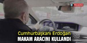 Erdoğan makam aracını kullandı