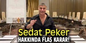 Sedat Peker hakkında flaş karar!