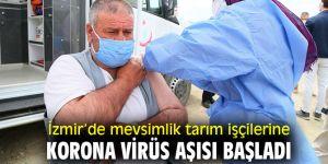 Mevsimlik tarım işçilerine korona virüs aşısı başladı