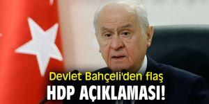 Devlet Bahçeli'den flaş HDP açıklaması!