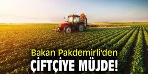 Bakan Pakdemirli'den çiftçiye müjde!