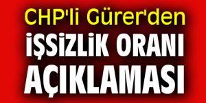 CHP'li Gürer'den işsizlik oranı açıklaması