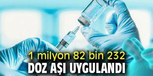 1 milyon 82 bin 232 doz aşı uygulandı