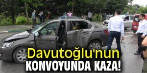 Davutoğlu'nun konvoyunda kaza!