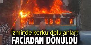İzmir'de korku dolu anlar! Faciadan dönüldü