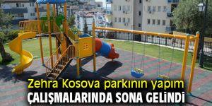 Zehra Kosova parkının yapım çalışmalarında sona gelindi