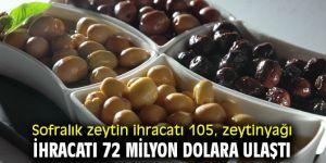 Sofralık zeytin ihracatı 105, zeytinyağı ihracatı 72 milyon dolara ulaştı