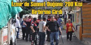 İzmir'de Sünnet Düğünü: 200 Kişi Taşlı Sopayla Birbirine Girdi