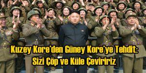 Kim Jong-un Güney Kore'yi Çöp ve Küle Çevirmeye Yemin Etti