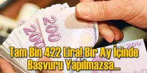Tam Bin 422 Lira! Bir Ay İçinde Başvuru Yapılmazsa...
