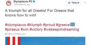 Olympiakos'tan Olay Paylaşım!