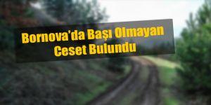 Bornova'da Kesik Başlı Ceset Bulundu