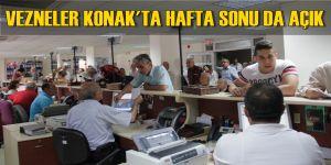Vezneler Konak'ta Hafta Sonu da Açık