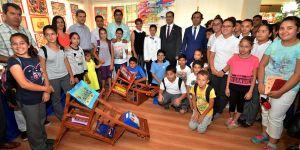 Necla Midilli Merkez Ortaokulu Görsel Sanatlar ve Halit Ata Kula Resim Sergisi açıldı