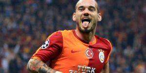 Sneijder'e özel karşılama.