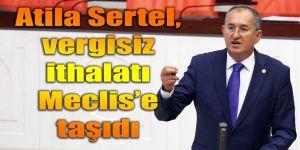Atila Sertel, vergisiz ithalatı Meclis'e taşıdı