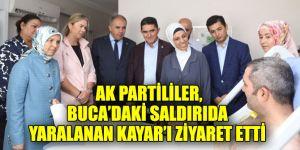 AK Partililer, Buca'daki saldırıda yaralanan Kayar'ı ziyaret etti