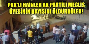 PKK'lı hainler AK Partili meclis üyesinin dayısını öldürdüler