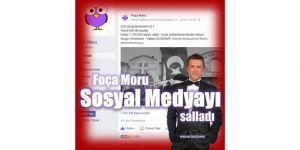 """""""Foça Moru"""" sosyal medyayı salladı"""