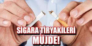 Sigara tiryakileri müjde!