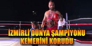 İzmirli dünya şampiyonu kemerini korudu