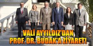 Vali Ayyıldız'dan Prof. Dr. Budak'a ziyaret!