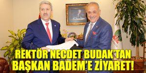 Rektör Necdet Budak, Başkan Badem'i ziyaret etti