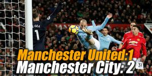 Manchester United:1 Manchester City: 2