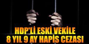 Halkların Demokratik Partisi'nin eski vekiline 8 yıl 9 ay hapis cezası