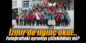 İzmir'de ilginç okul... Fotoğraftaki ayrıntıyı çözebildiniz mi?