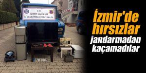 İzmir'de hırsızlar jandarmadan kaçamadılar