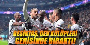Beşiktaş, dev kulüpleri gerisinde bıraktı!