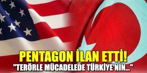"""Pentagon ilan etti! """"Terörle mücadelede Türkiye'nin..."""""""