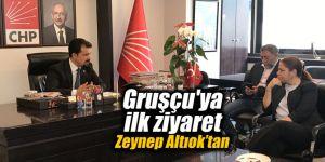 Gruşçu'ya ilk ziyaret Zeynep Altıok'tan