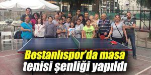 Bostanlıspor'da masa tenisi şenliği yapıldı