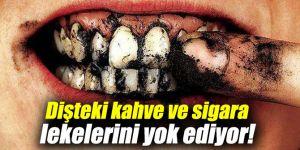 Dişteki kahve ve sigara lekelerini yok ediyor!