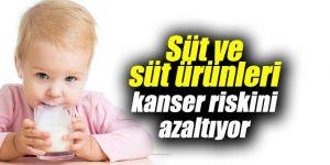 Süt ve süt ürünleri kanser riskini azaltıyor