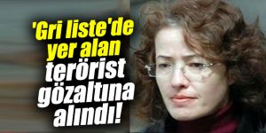 'Gri liste'de yer alan terörist gözaltına alındı!